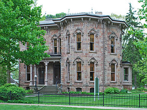 National Register of Historic Places listings in Ionia County, Michigan - Image: John C Blanchard House Ionia Mi