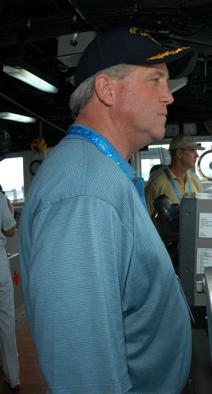 John Fox at Pearl Harbor 2-9-06 060209-N-4965F-006