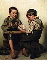 John George Brown - Bluffing (1885).jpg