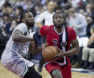 Basketball uniform - Jae Crowder and John Wall wearing the newly introduced sleeved basketball jerseys
