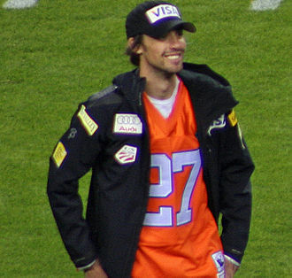 2009 Denver Broncos season - American Nordic combined skier Johnny Spillane at the game between the Steelers and the Broncos.