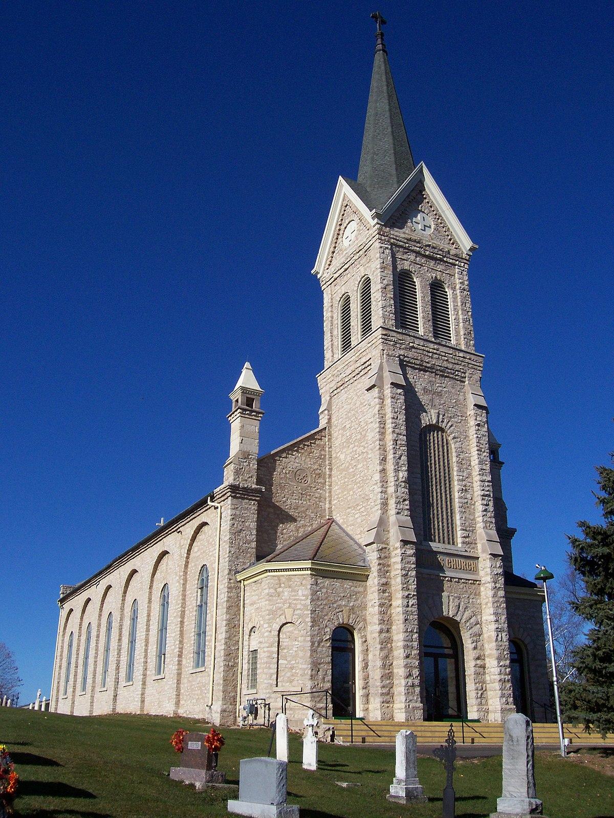 catholic church john st baptist wisconsin johnsburg historic wikipedia places