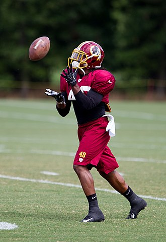Jordan Bernstine - Bernstine at Redskins training camp in 2012.