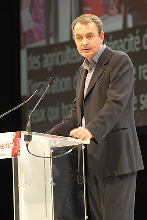 José Luis Rodríguez Zapatero during his meetin...