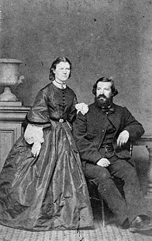 Julius Haast and his wife Mary 1865.jpg