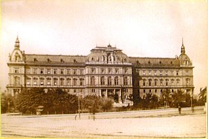 July Revolt of 1927 - Vienna Palace of Justice in the 1880s