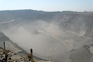 Southern District (Botswana) - Image: Jwaneng Open Mine