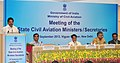 K.C. Venugopal addressing the Conference of Aviation Ministers of State Governments, in New Delhi on September 10, 2013. The Union Minister for Civil Aviation, Shri Ajit Singh and other dignitaries are also seen.jpg