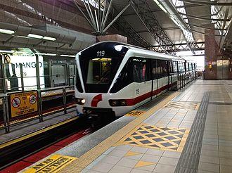 Kelana Jaya line - A 2-car ART Mark II train (before refurbishment)