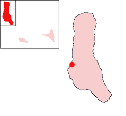 Location of Moroni on the island of Grand Comore