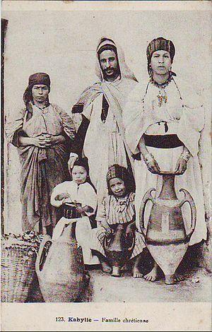 Christianity in Algeria - Christian family from Kabylia.