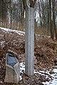 Kamenná zarubeň ze zaniklého kostela sv. Martina v zaniklé obci Činov.jpg