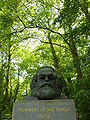 Karl Marx bust -Highgate Cemetery, London, England-25May2009.jpg