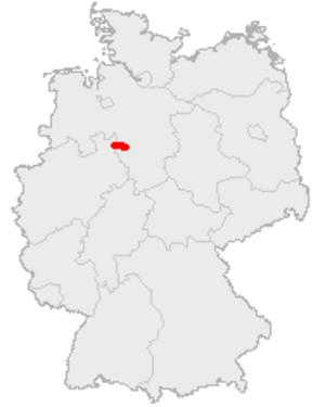 Wesergebirge - Image: Karte Wesergebirge