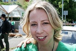 Kateřina Jacques - Kateřina Jacques on election campaign of Green Party, May 28, 2006