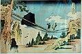 Katsushika Hokusai, il ponte sospeso tra le province di hida e ettchu, dalla seire delle notevoli vedute di ponti in varie province, 1833-34 ca. 02.jpg