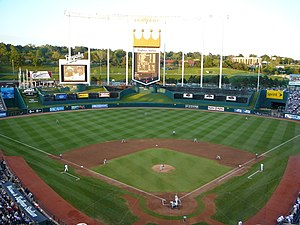 Kauffman Stadium - Kauffman Stadium as it appeared prior to 2009 renovations