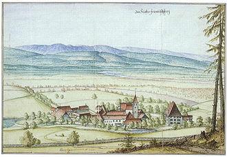 Seedorf, Bern - Frienisberg Abbey in 1670