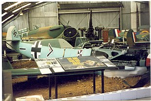 """The <a href=""""http://search.lycos.com/web/?_z=0&q=%22Kent%20Battle%20of%20Britain%20Museum%22"""">Kent Battle of Britain Museum</a> in Hawkinge"""