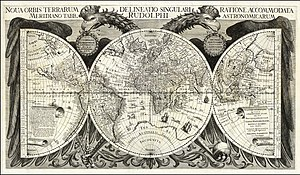 Rudolphine Tables - The map of the world from the Rudolphine Tables