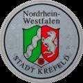 Kfz-Zulassungsplakette Nordrhein-Westfalen Stadt Krefeld SecuRasta.png