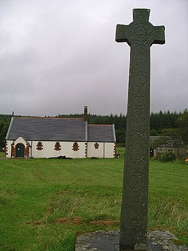Kiel Church and the Morvern Cross, Lochaline.jpg