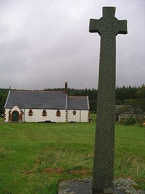 Morvern - Image: Kiel Church and the Morvern Cross, Lochaline