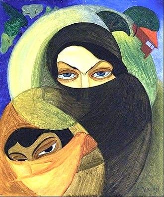 "Adjarians - Shalva Kikodze. ""Adjarian women in chadors"". 1920"