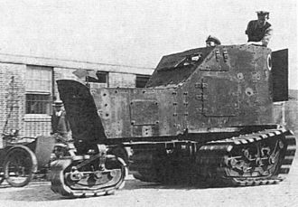 History of the tank - Killen-Strait tractor fitted with a Delaunay-Belleville armoured car body, shortly after the 30 June 1915 experiments