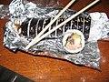 Kimbap on a aluminium foil sheet.jpg