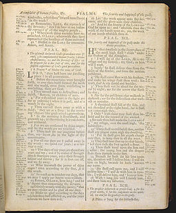 King James Bible 1772 - Psalm 90
