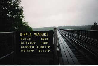 Kinzua Bridge State Park - The Kinzua Bridge, in 2001, prior to its collapse.