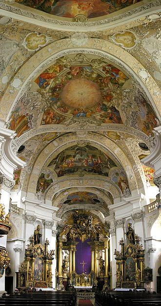 Banz Abbey - Church interior.