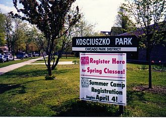 Logan Square, Chicago - Kosciuszko Park is located by the intersection of Diversey and Pulaski.