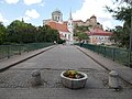 Kossuth Bridge and the Saint Ignatius of Loyola Church from Primate's Island, Esztergom, Hungary.jpg