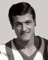 Greek Football player of Olympiacos Piraeus, b. 1938 d. 2013