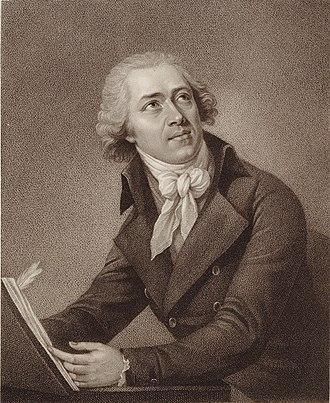 Leopold Koželuch - Portrait of Leopold Koželuh by W. Ridley