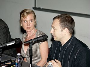 Dan Charnas - Charnas on a panel at the 2010 Brooklyn Book Festival with Kristin Hersh.