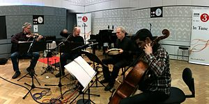 Kronos Quartet - Kronos Quartet recording at BBC Radio, 2012