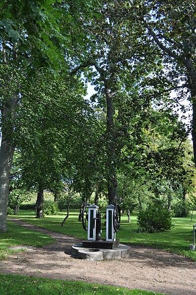 Brunnen im Park auf Kungsholmen