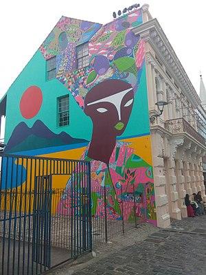 Street art mural in Curitiba, Brazil