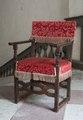 Länstol klädd med röd schagg - Skoklosters slott - 103820.tif