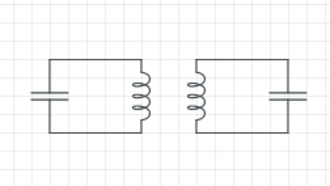 Coupling (physics) - Two LC circuits coupled together.