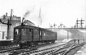 Axholme Joint Railway - A Sentinel-Cammell steam railcar of the same type as the one which worked on the Axholme Joint Railway.