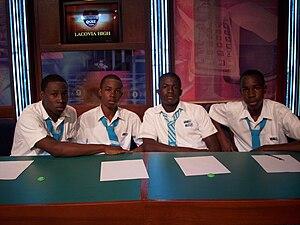 Education in Jamaica - 2008-2009 Lacovia High School's quiz team
