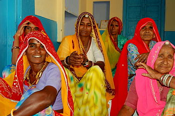 English: Ladies of Rajasthan, India