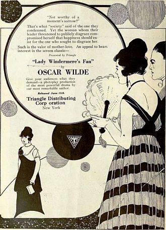 Lady Windermere's Fan - Ad for the British film Lady Windermere's Fan (1916), for its 1919 release in the United States, on page 1422 of the June 7, 1919 Moving Picture World.
