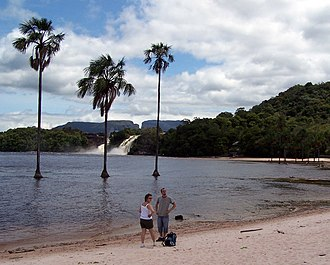 Canaima National Park - Tourists in the Lagoon of Canaima