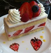 A Strawberry Cake Prepared As A Layer Cake