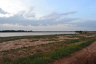 Hydroelectric power in Kenya - Dam in Tsavo East National Park, Kenya